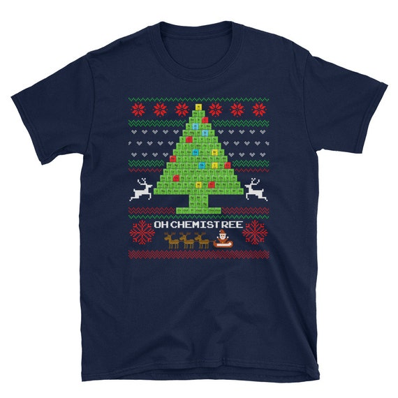 Oh T-Shirt chemistree laid science Noël périodique Tableau T-Shirt Oh 010b06