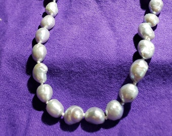 Free Shipping Natural Purple Drop Drilled Strand Baroque Irrugular Pearls Beads For Jewelry Making Diy Bracelet Necklace Handsome Appearance Beads & Jewelry Making Jewelry & Accessories
