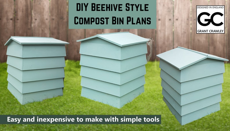 DIY Beehive Style Compost Bin Plans image 0