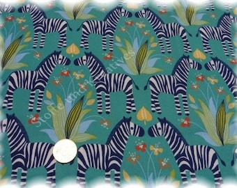 Giraffen auf Urlaub Stretch-Jersey blau Baumwolle Shirtstoff 50 cm