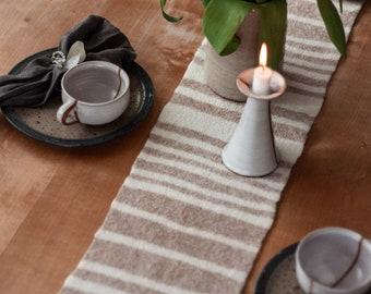 Table runner HEDA handmade wool felt individually