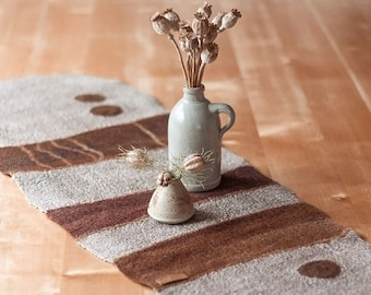 Table runner ILDA handmade wool felt individually
