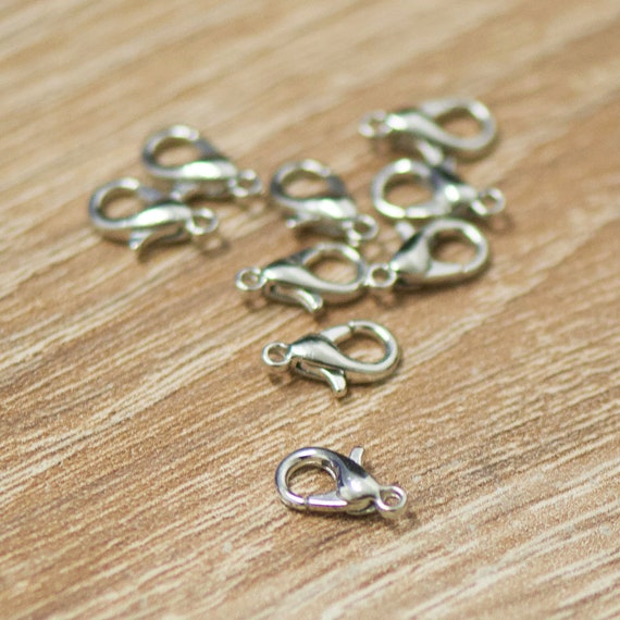 5//10X Silver Gold Lobster Clasp Necklace Bracelet Accessory Jewelry Making Craft