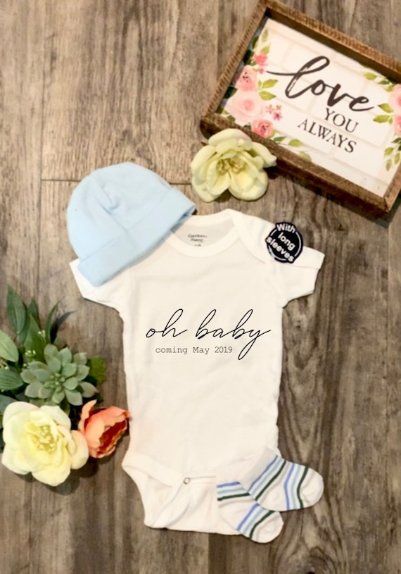 Cute Gift for Baby Pregnancy Reveal Pregnancy Announcement Funny gift for baby Oh Baby Bodysuit Sibling Bodysuit Family Bodysuit