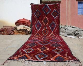 Moroccan Rug - 17.55x5.57 ft - Area Rug - Vintage Boujad rug - Beni Ourain Rug - Berber rug - Tribal rug - Handmade Rug