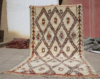 11.48x6.29 ft Vintage Beni Ourain Rug , Vintage Marmoucha Rug , handmade rug , tapis antique, moroccan rug , berber rug , marmoucha