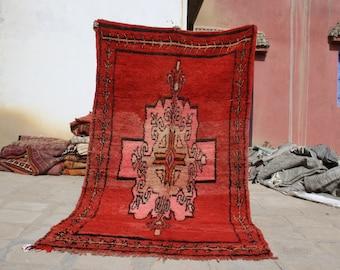 Moroccan Rug - 8.92x4.92 ft - Area Rug - Vintage Boujad rug - Beni Ourain Rug - Berber rug - Tribal rug - Handmade Rug
