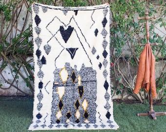 Beni ourain rug- Moroccan Rug- Custom Beni Ourain rug- Beni Rug-Berber Rug- Large Moroccan Rug- Custom rug- rugs for living room