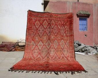 10.17x6.39 ft Berber boujaad rug,azilal rugs,azilal berber rug,Moroccan rug,berber rug, moroccan carpet , azilal, beni ourain rug,rugs