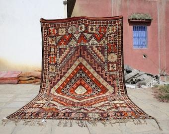 11.22x6.46 ft Berber boujaad rug,azilal rugs,azilal berber rug,Moroccan rug,berber rug, moroccan carpet , azilal, beni ourain rug,rugs
