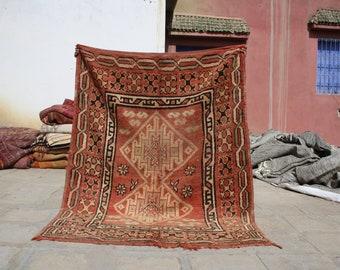 Moroccan Rug - 6.23x4.92 ft - Area Rug - Vintage Boujad rug - Beni Ourain Rug - Berber rug - Tribal rug - Handmade Rug