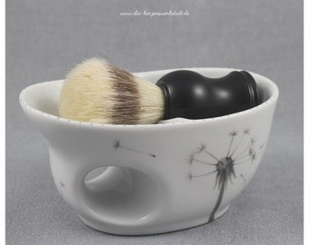 """Shaving bowl """"Pusteblume"""" porcelain, handpainted, wet shave"""