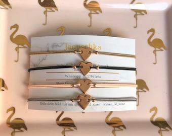 Filigrens heart bracelet rosegold minimalistic jga gift