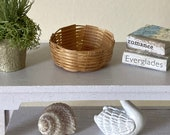 Miniature Rattan Basket For a Dollhouse or Diorama - 1 12 Scale