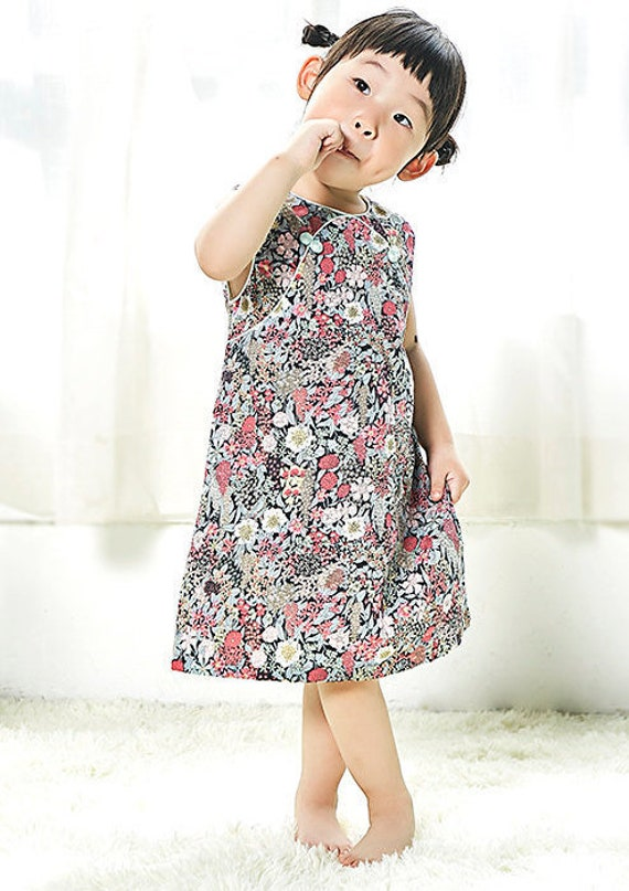 Baby Girls Chinese Style Cheongsam Dress New Year Dress With Small Shoulder Bag