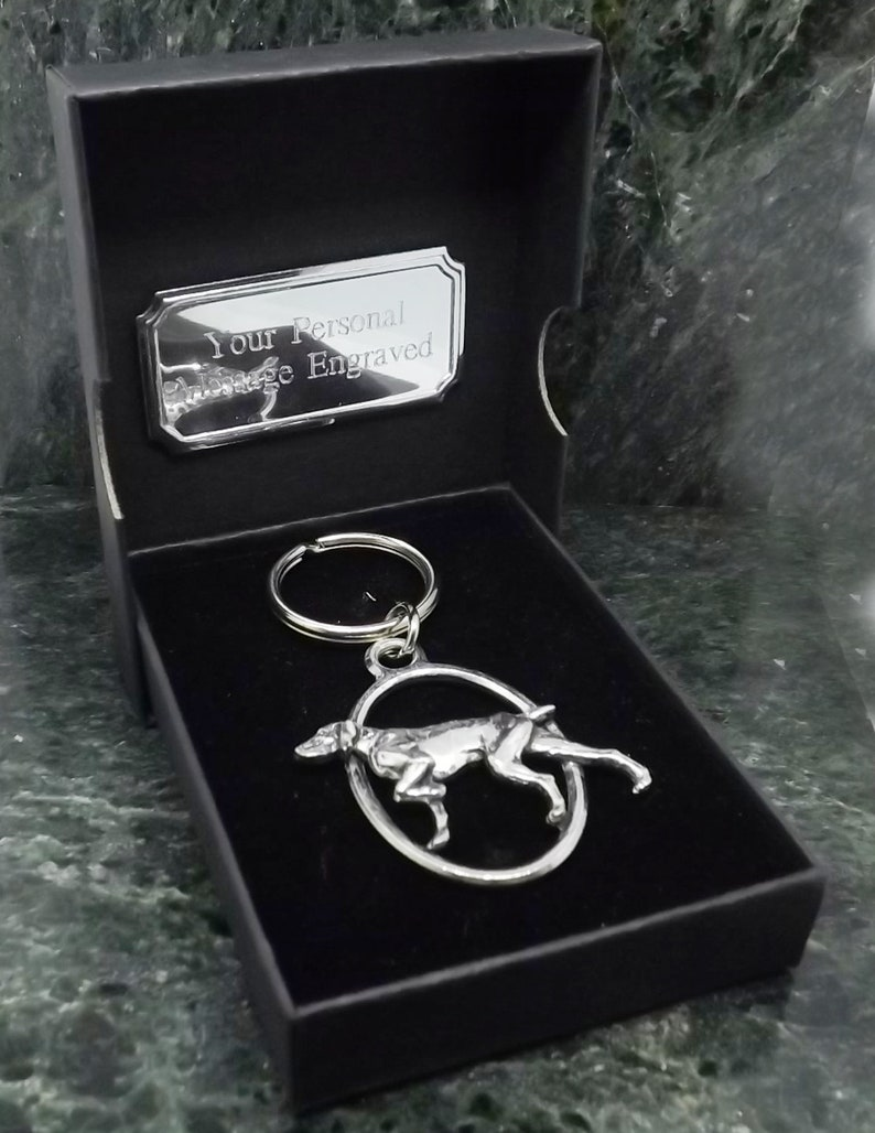 English Pewter Horse Head Keyring in Gift Pouch
