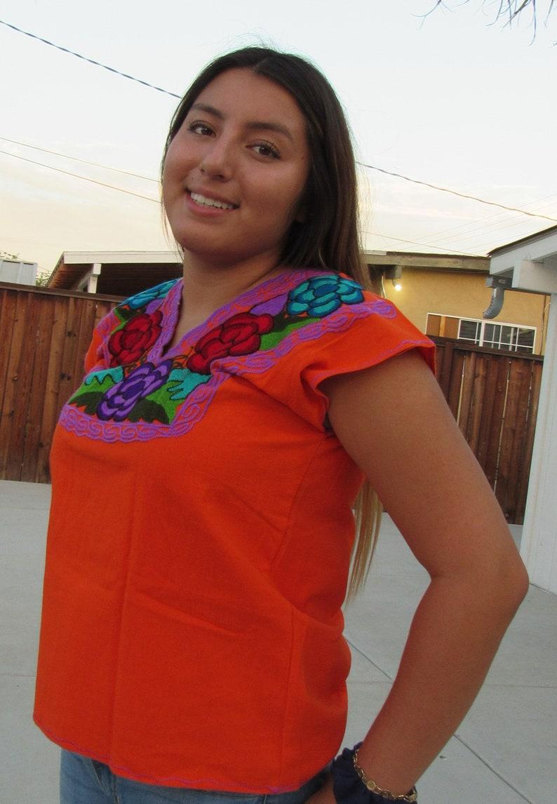 OrangePurple Mexican Blouse