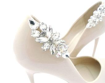 eaa85e28c6 Silver jewelry shoe clips rhinestones shoes clip schuhclips wedding shoe  decorations crystal shoe clips crystal rhinestone shoe clip Judaeve