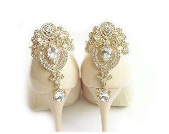c17a40bfa0a Gold jewelry shoe clips shoes clip wedding decorations Judaeve