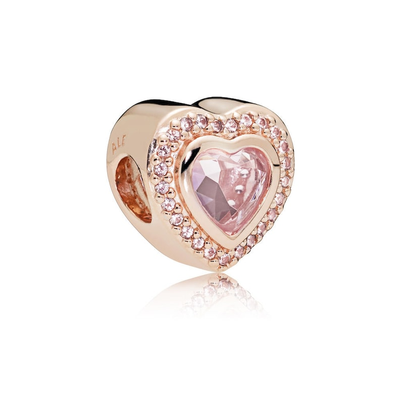 539a6169416eb New Authentic Pandora Charm Rose Gold Sparkling Love&Pink Crystal 787608NPM