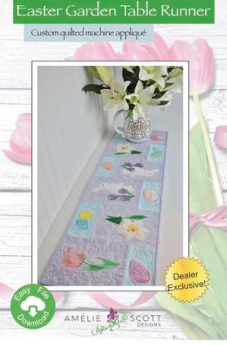 Easter Garden Runner Designs Embroidery Software Amelie Scott