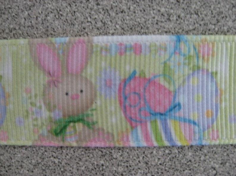 78  inch  Bunny Ribbon Easter, Grosgrain Ribbon