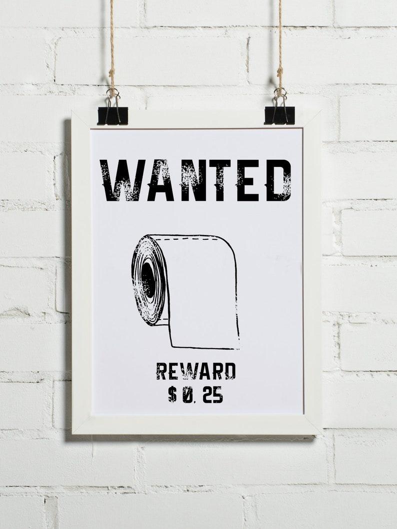 Plakat Do łazienki Wanted