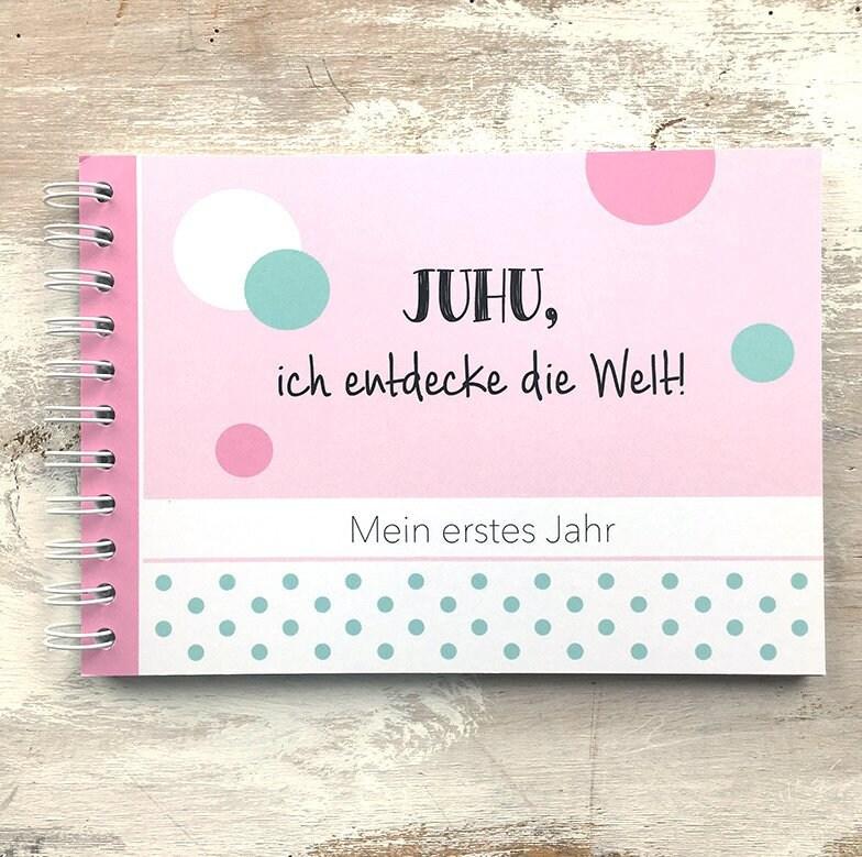 Baby-Erinnerungsbuch Mein erstes Jahr rosa | Etsy
