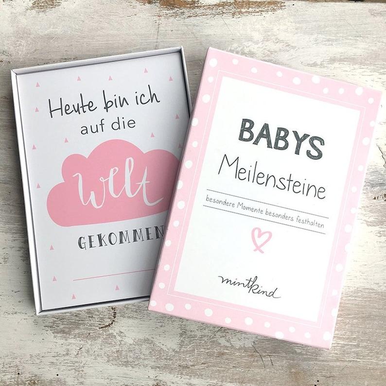 Baby Milestone Cards Pink image 0