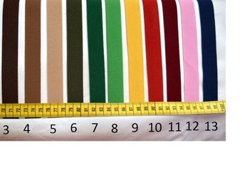 Rubber band, 2 cm wide, 24 colours, 1 meter