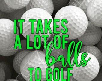 Cute Funny 3D Golf Balls Quote Lenticular Refrigerator Magnets