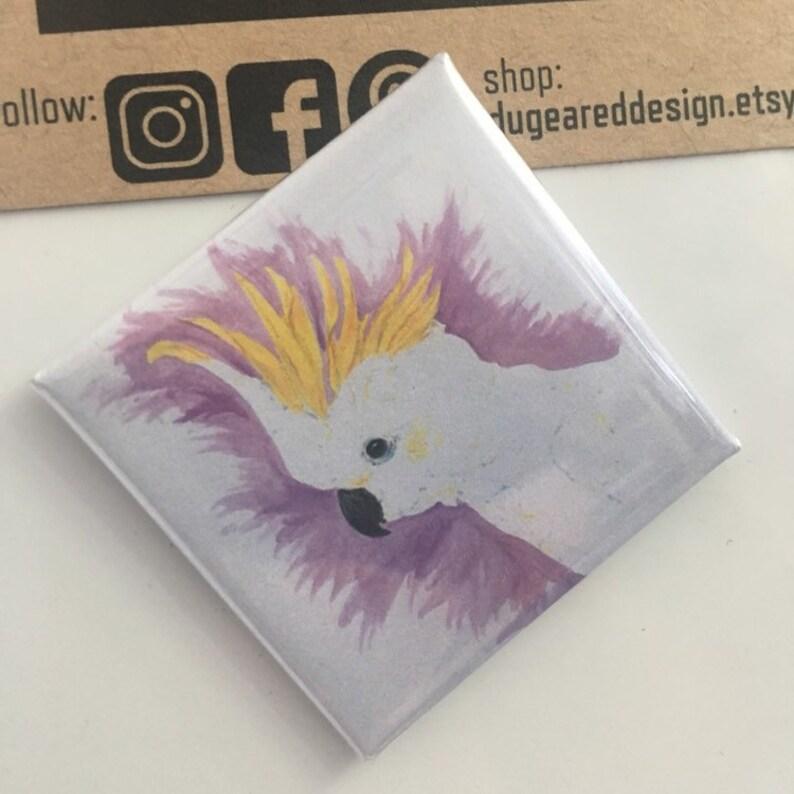 Square Cockatoo Fridge Magnet