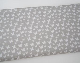 Cotton fabric cotton butterflies grey