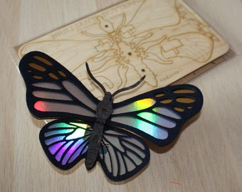 Slot Together Brilliant Butterfly Kit, Craft kit for kids and adults, Build a butterfly activity, wooden craft gift, letterbox gift,