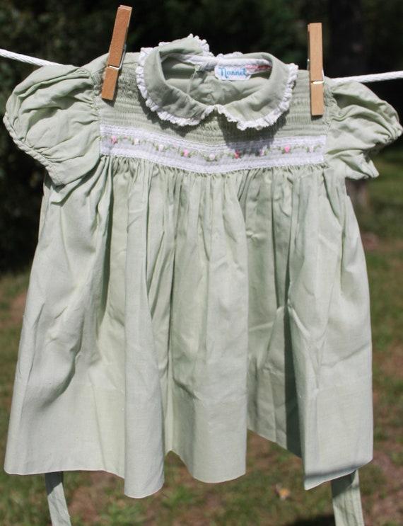 Vintage Smocked Baby Dress