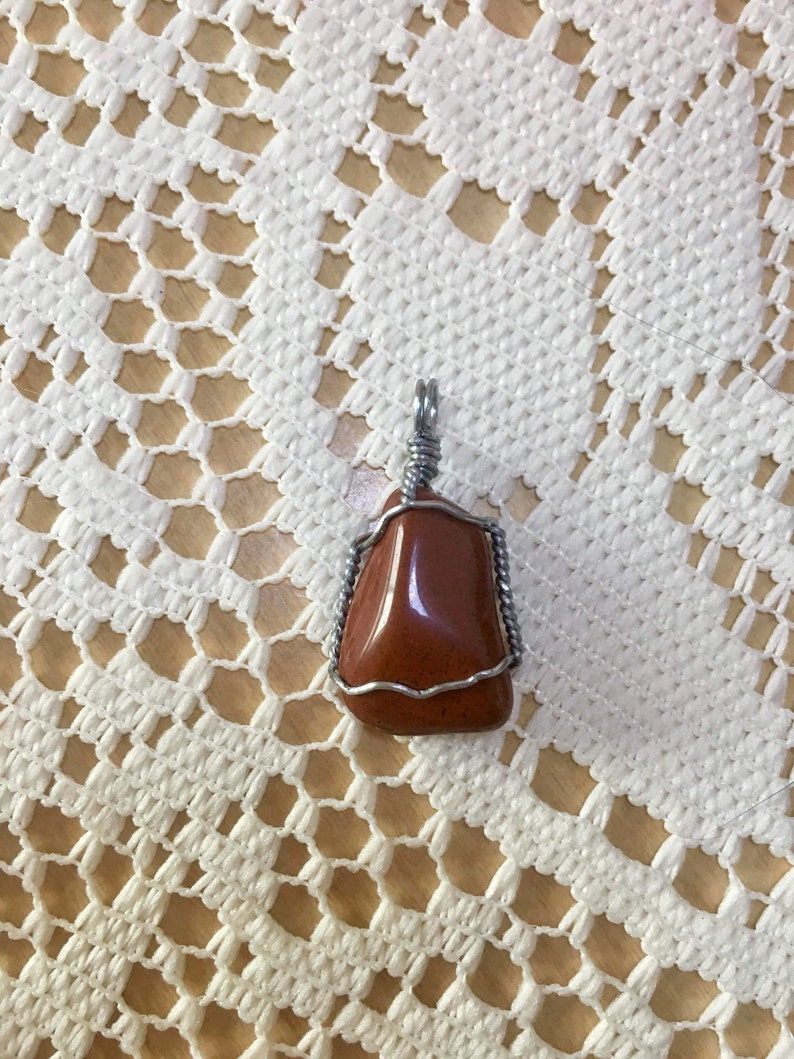 Wire Wrapped Red Jasper Wave Wrap Small