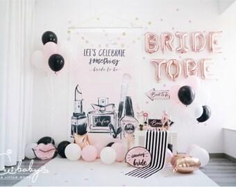 exclusive rose gold bridal shower decoration set engagement party decoration balloon wedding decoration