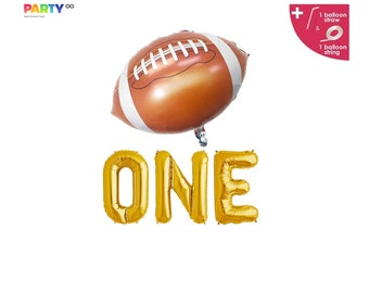 4Pcs Football Balloons 18 inch American Football Foil Mylar Balloons for Super Bowl Party Football Themed Birthday Baby Shower Gender Reveal Party Decorations Supplies