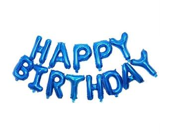 16 18 20th Blue Birthday Decorations