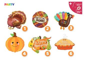 Fall Themed Party Decorations | Thanksgiving Balloons Decorations | Cluster Balloon | Thanksgiving Pie | Pumpkin Balloon | Turkey Balloon