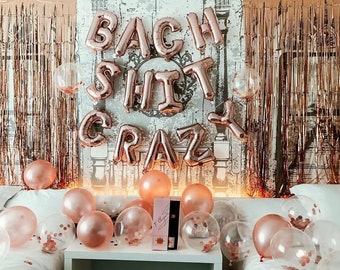 Bach Shit Crazy Bachelorette Party Decor Balloon Banner | Bachelorette Party Decorations | Bachelorette Party Banner/Sign