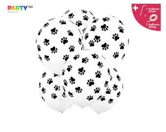 Paw Print Balloons Bouquet   Dog Birthday Party Decorations Balloons   Paw Patrol Black Paw Balloon   puppy dog pals birthday decorations