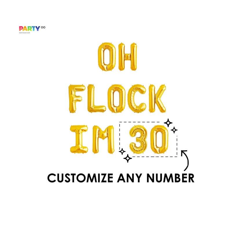 Oh Flock Im 30  30th Birthday Decorations  Thirty Birthday Gold