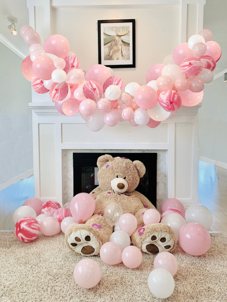 Pink Balloon Garland  Pink Balloon Garland Balloon Arch Tool image 0