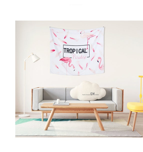 Thanksgiving gift | Flamingo Wall Tapestry | Wall Hangings ...