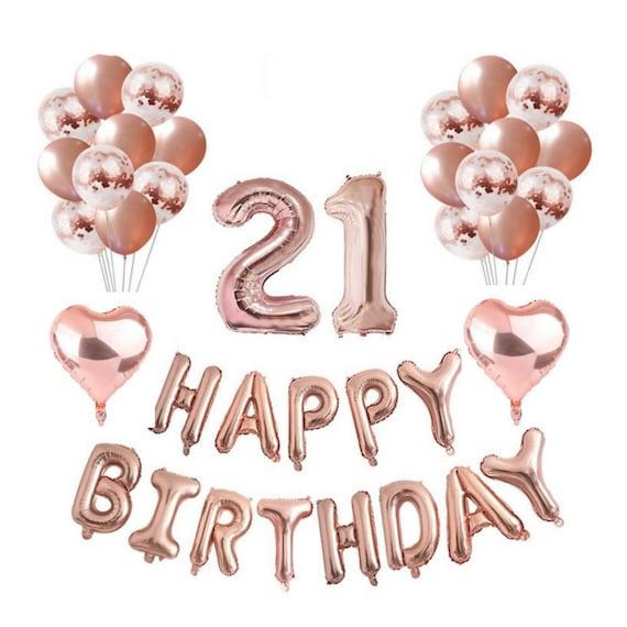Rose Gold 21st Birthday Balloon Decoration Set 21ST