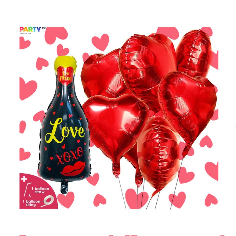 XOXO Champagne I Love You Balloon  Valentine's Day image 0
