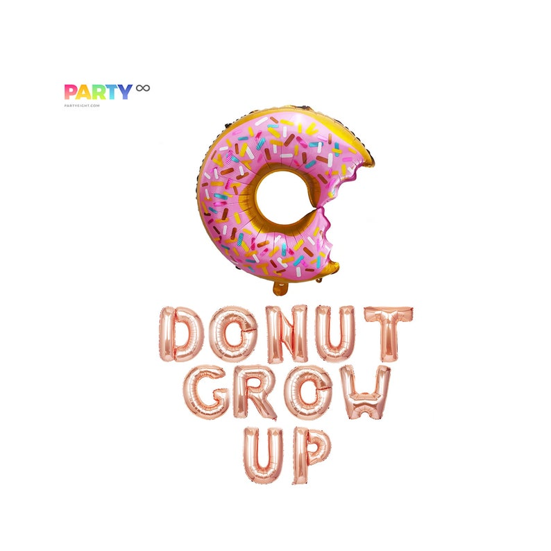 Donut Grow up Balloons  Donut Party Decoration Balloon  Kids image 0
