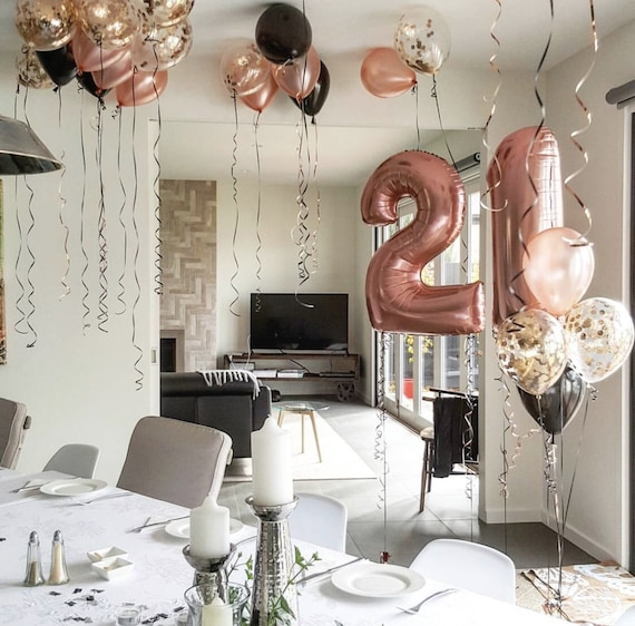 Rose Gold 21st Birthday Decor Set