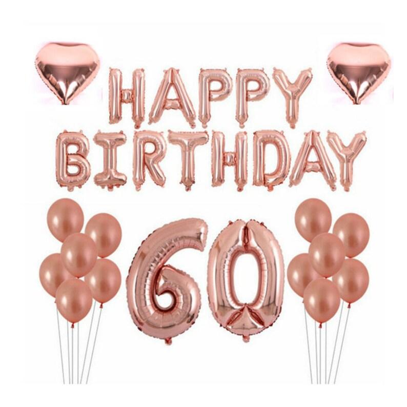 Rose Gold 60th Birthday Balloon Decoration Set   60th image 0